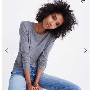 Madewell Whisper Cotton Long-Sleeve Tee Size Small
